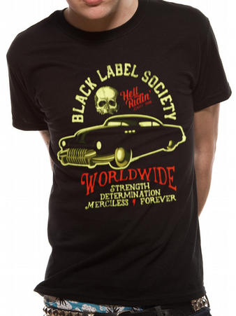 Black Label Society (Hell Riding Hot Rod) T-shirt Preview
