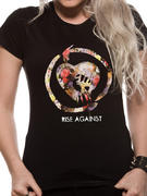 Rise Against (Floral Fist) Fitted T-shirt