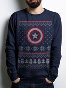 Captain America Civil War ( Captain America Fair Isle) Crewneck