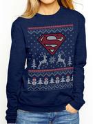 Superman (Reindeer & Snowman) Crewneck