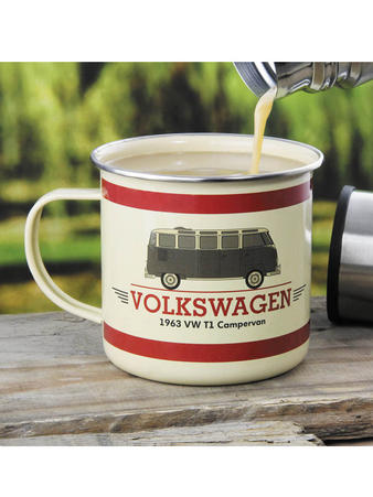 VW (Campervan) Camping Mug Preview