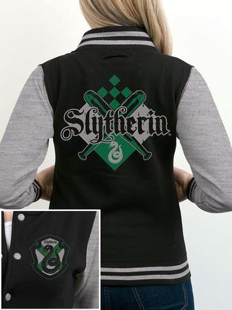 Slytherin (Crest) Varsity Jacket Preview