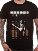 Jimi Hendrix (Peace Flag) T-shirt
