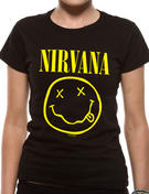 Nirvana (Smiley) Fitted T-shirt
