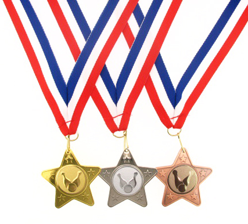 45mm Metal Ten Pin Bowling Medal-Gold,Silver or Bronze-FREE POSTAGE & ENGRAVING