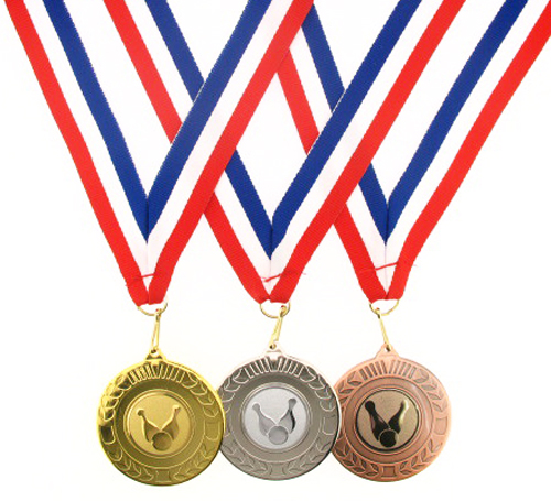 50mm Metal Ten Pin Bowling Medal-Gold, Silver or Bronze-FREE POSTAGE-&-ENGRAVING