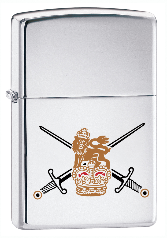 High Polished Chrome British Army Zippo Lighter 250BA Brand New