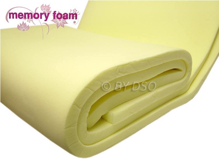 luxury memory foam mattress topper double bml62520 ebay. Black Bedroom Furniture Sets. Home Design Ideas