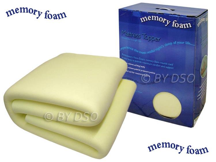 luxury memory foam mattress topper single bml62510 ebay. Black Bedroom Furniture Sets. Home Design Ideas