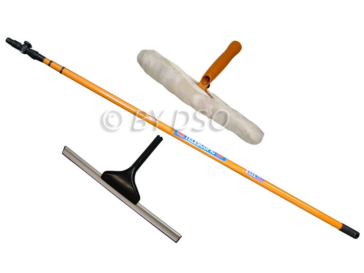 Hilka 3.5 Metre Telescopic Window Cleaning Mop and Squeegee HIL84980603