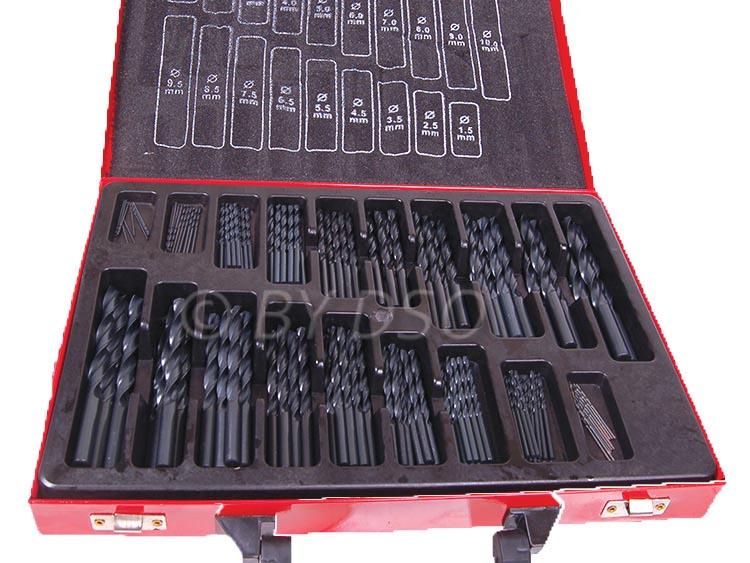 Hilka Engineering Quality 170 pc HSS 4241 Steel Twist Drill Set Split Point Set