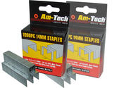 Am-Tech 1000pc 14mm Staples AMB3753