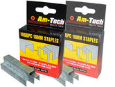 Am-Tech 1000pc 10mm Staples AMB3751