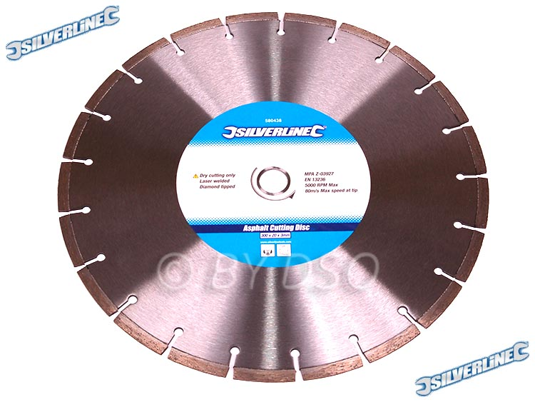 Silverline Asphalt Cutting Blade 300mm x 20mm  SIL580438