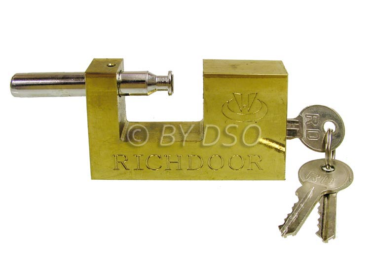 90mm High Grade Security Brass Shutter Padlock with 3 Security Keys 10460