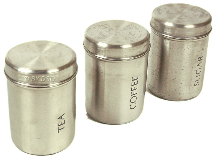 Prima Stainless Steel Coffee Sugar Tea Canisters 17154c Ebay