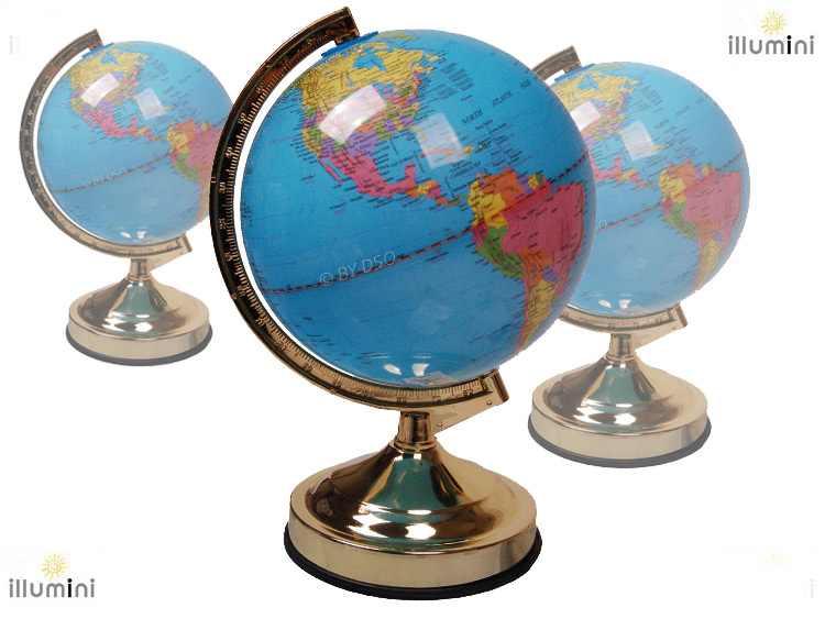 lamp globe world map touch activated lamp with 4 light. Black Bedroom Furniture Sets. Home Design Ideas