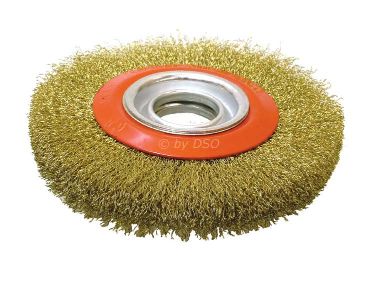 6 inch 150mm Fine Wire Brush Wheel for Bench Grinder with Adaptor Rings