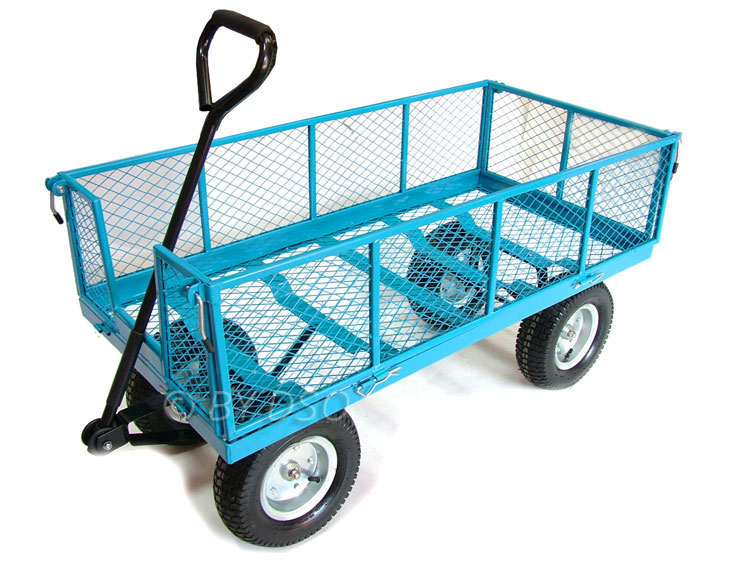 Patio Carts With Wheels Green Blade 880lbs Extra Large 4 Wheel Garden Cart  Trolley .
