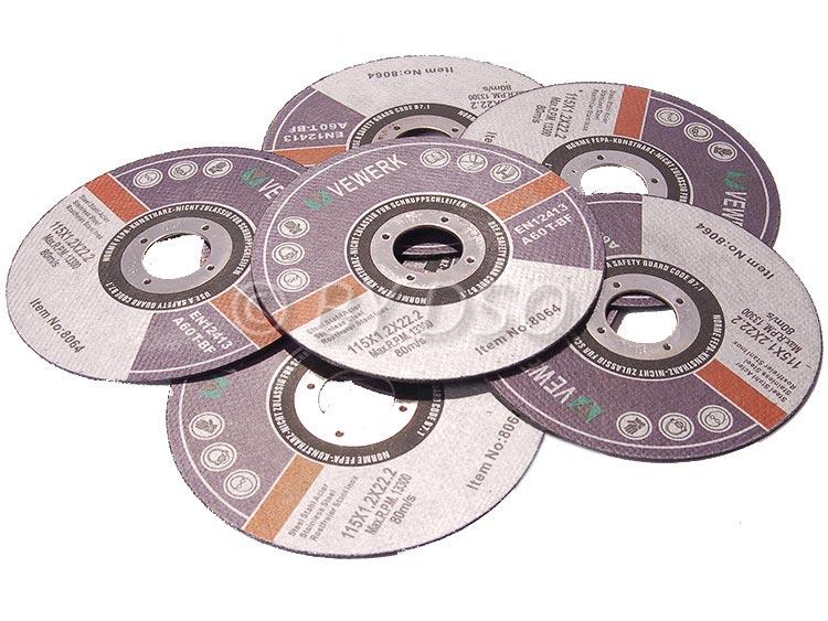 BERGEN VEWERK 10x4 1/2 inch Metal Cutting Discs - Flat Center 115 X 1.2 X 22.2mm
