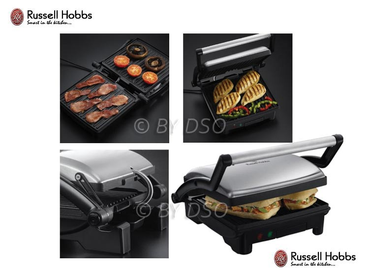 russell hobbs three in one panini grill and griddle ru 17888. Black Bedroom Furniture Sets. Home Design Ideas