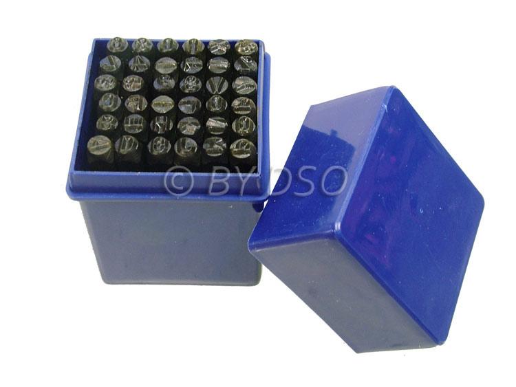 Hilka 36 Piece 5mm Letter & Number Stamps HIL62990036