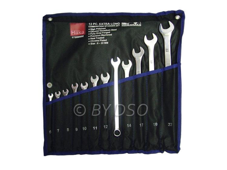 Hilka Professional Long 12pc Spanner Set 6-22mm HIL17200602