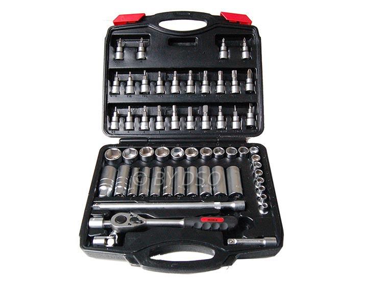 "HILKA 58 pc 3/8"" Pro Drive Single Hex Metric Socket Set 6 - 24mm HIL02385802"