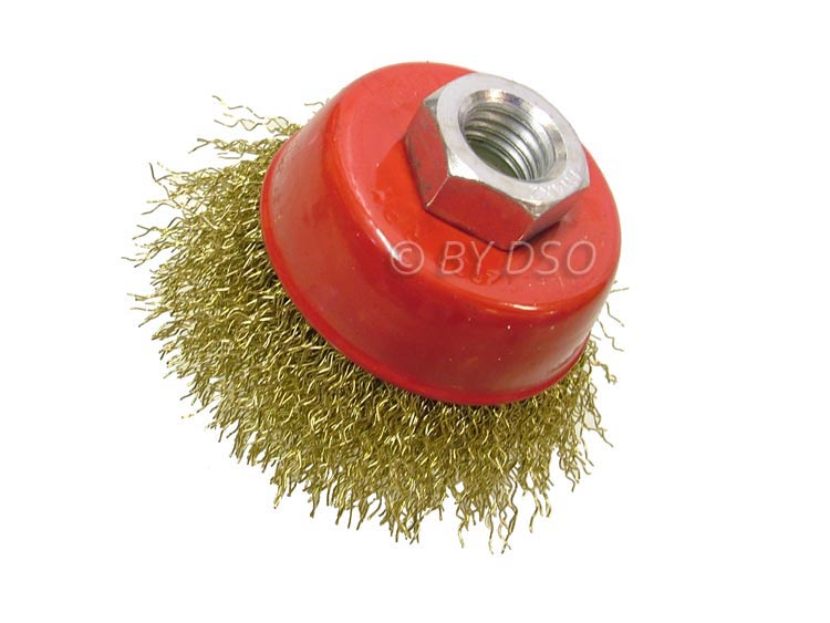 Professional 65mm Brassed Crimp Wire Cup Brush M14 WB009