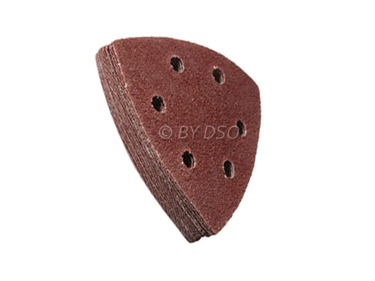 BERGEN Vewerk 50 Pack 90 mm Triangle Velcro Sanding Discs 240 Grit BER8082