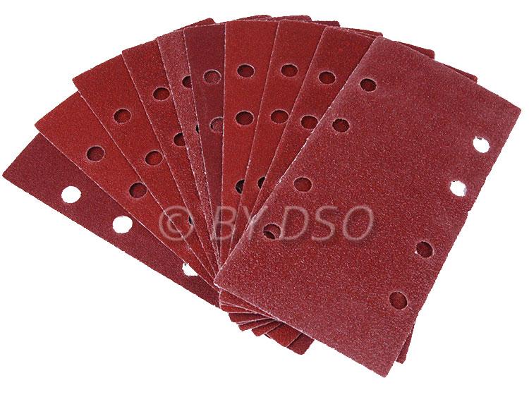 BERGEN Vewerk 50 Pack 190 x 95 mm Velcro Sanding Discs 80 Grit BER8097
