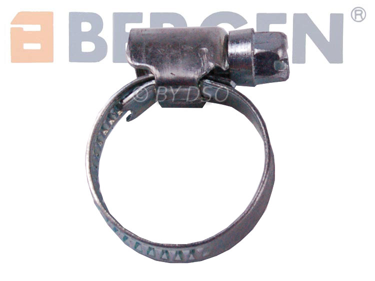 BERGEN 50 Pack Jubilee Hose Pipe Clamp Clips For Air Water Fuel Gas 20 to 32 mm