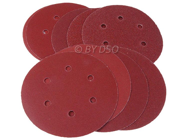 BERGEN Vewerk Bodyshop Spec 50 Pack 150 mm Velcro Sanding Discs 240 Grit BER8074