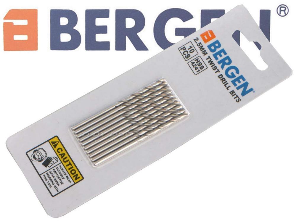 BERGEN Professional 10 Pack 2.5 mm HSS 4241 Drill Bit BER2575