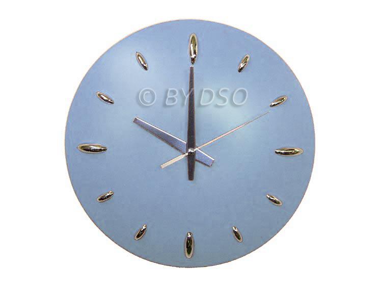 apollo stylish coloured splash dome kitchen wall clock in