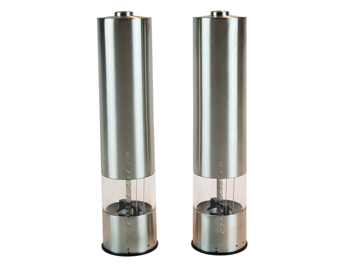 stainless steel electronic salt and pepper mill set sal 7522 ebay. Black Bedroom Furniture Sets. Home Design Ideas