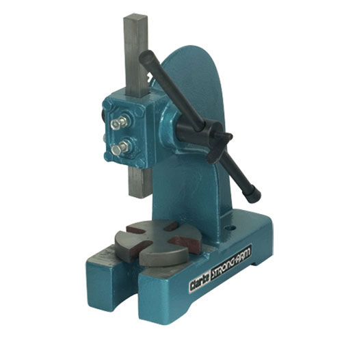 Clarke AP1000 Heavy-duty 1 Ton Arbor Press Ram size 23.6x 23.6mm 4 cut-out sizes