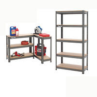 CLARKE SHELVING BOLTLESS 150Kg 5 SHELF BLK 800x300x1500