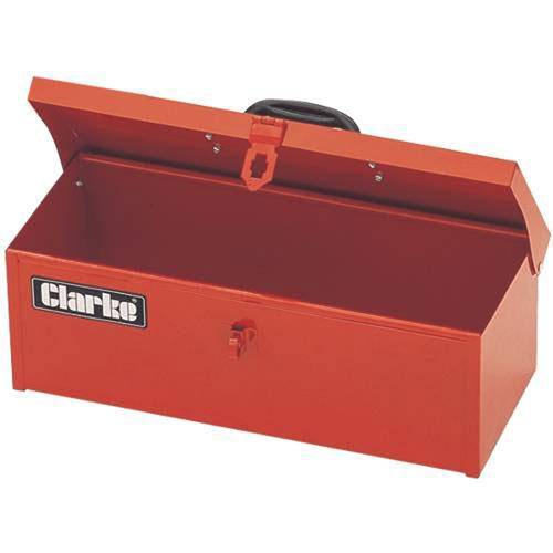 Clarke CTB100 Sturdy All Steel Tool Box 385x160x125mm