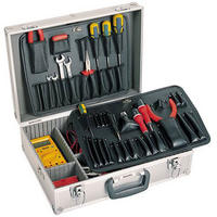 Clarke ATC40 Engineers/ Electricians Tool Case Anodised Aluminium & Carry Strap