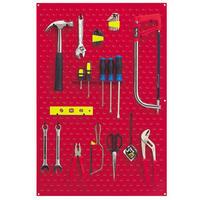 CLARKE CWR50 Garage Steel Tool Rack Wall Mounted + 30 tool clips 610x15x900