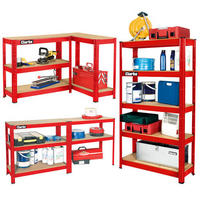 CLARKE CSR5150RP SHELVING BOLTLESS 150Kg 5 SHELF RED 800x300x1500