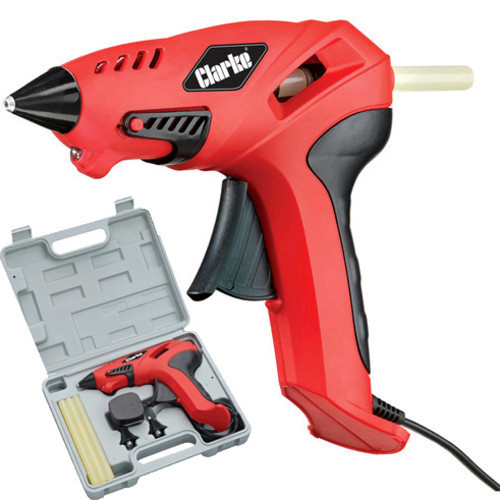 Clarke CGG-1C Glue Gun Kit 3 interchangeable nozzles + 6 glue sticks 165 Degrees