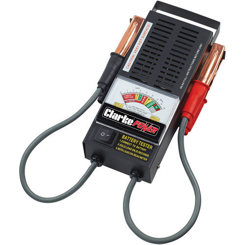 Clarke CVT2 6V & 12V Battery Tester Colour Coded Dial Heavy Duty Insulated Leads