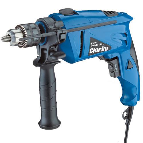 """CLARKE CHD850 Hammer Drill 230 volt 850 Watt 13mm 1/2"""" Chuck 0?2900rpm + reverse"""