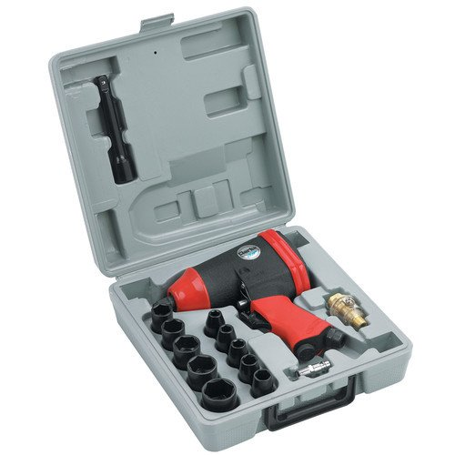 "CLARKE CAT117 ½"" 17 Piece Air Impact Wrench Set 7000 rpm Max torque 230 ft/lb"