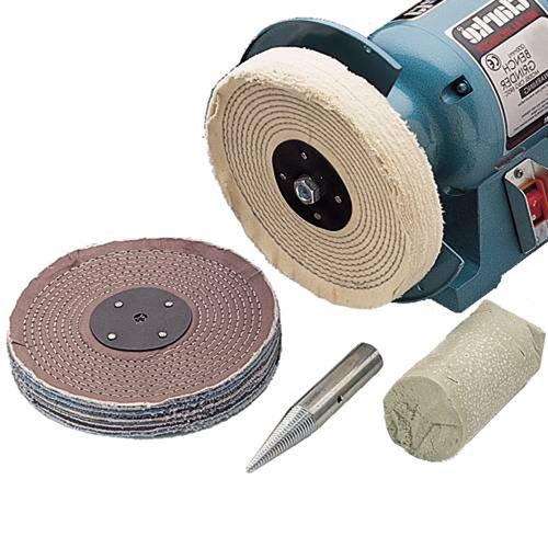 "CLARKE CBK150C METALWORK POLISHING KIT 6"" 12.7mm dia Spindle"