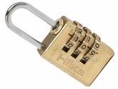 Hilka 20mm Solid Brass Combination Padlock Fully Hardened Shackle