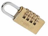 Hilka 30mm Solid Brass Combination Padlock Fully Hardened Shackle 10,000 Combina