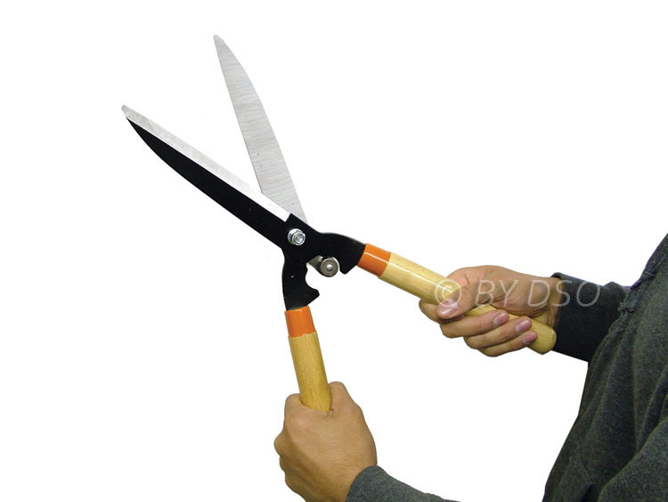 garden hedge shears prunning trimming tool wooden handle gd075